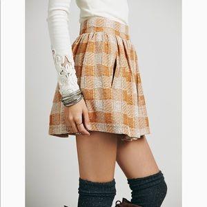 Free People holly go lightly plaid skirt sz large